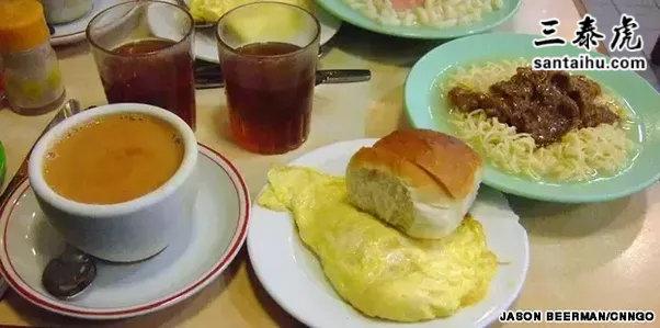 早餐,面包、茶