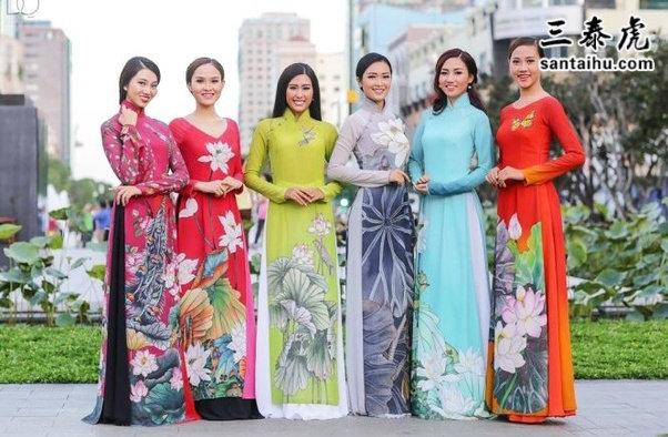 越南传统服饰奥黛
