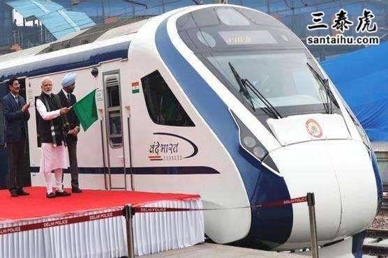 莫迪为印度半高铁列车举行通车仪式