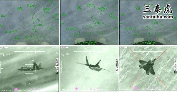 """一架F-22""""猛禽""""战机被""""阵风""""战机锁定"""