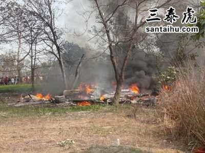印度美洲豹战机坠毁